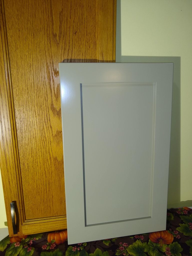 Gray painted MDF shaker door