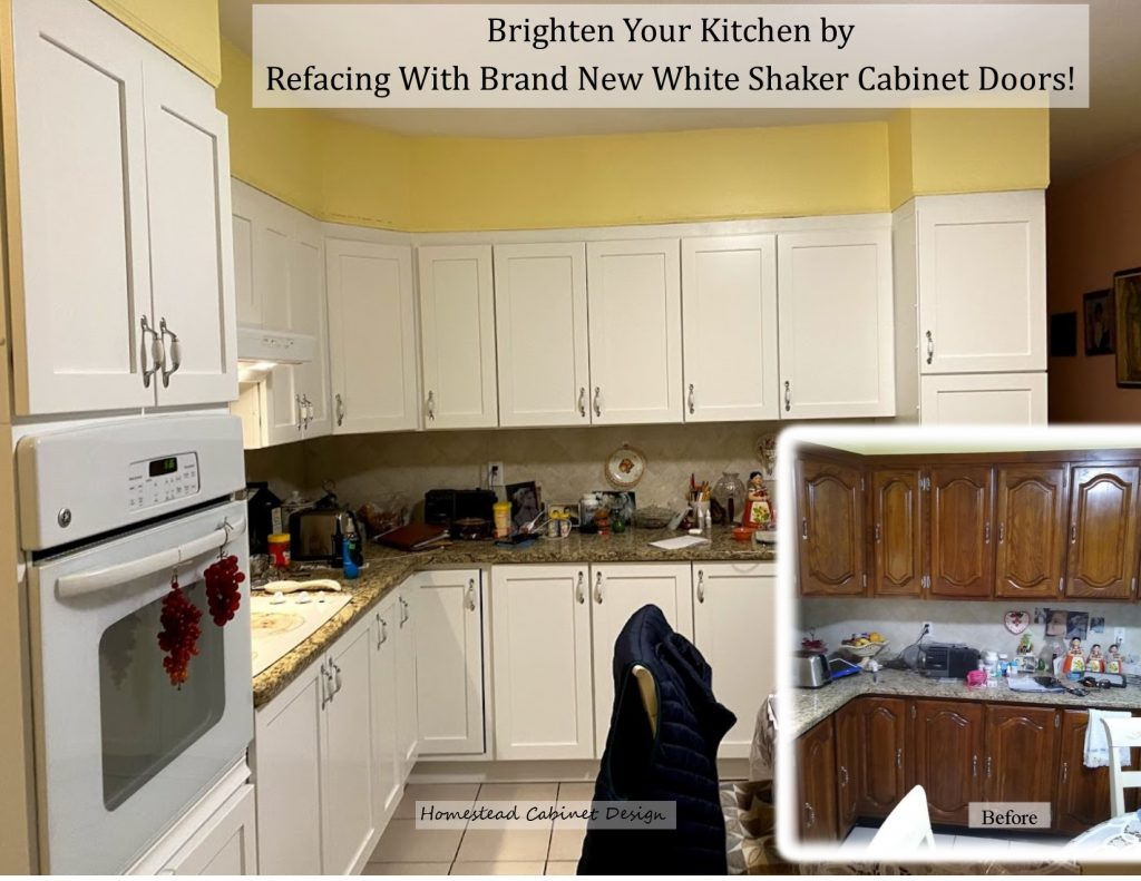 Replace your cabinet doors with Shaker painted doors