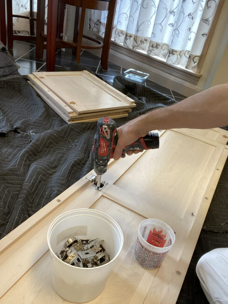 Install new hinges on your cabinet doors